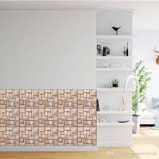 großhandel 3d stereo ziegel collage wandtattoos wohnzimmer badezimmer schlafzimmer küche fliesen dekor selbstklebende tapete poster aufkleber diy