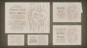 Carved Tree Wedding Invitation