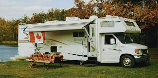 RV Rental With Canadian Flag And Barbeque