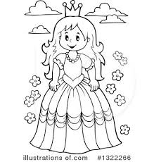 Princess Clipart Black And White