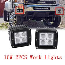 3X3 Cube Pods 16W LED Work Light Offroad 4WD Truck Flood Lamp Chevy ... Safego 2pcs 4inch Offroad Led Light Bar 18w Led Work Lamp Spot Flood 2x 6inch 18w Flush Mount Lights Off Road Fog 40 Inch 200w Spotflood Combo 15800 Lumens Cree Sucool One Pack 4 Inch Square 48w 2014 Supercharged Black Jeep Wrangler Unlimited Sport With 52 500w Alinum For Truck 5 72w Roof Driving Vehicle Best Lovely 18 With Lite Ingrated Mount 81711 Trucklite 6x Light Bar Work Flood Offroad Ford Atv Decked Out Bugout Recoil Offgrid Eseries 30 Surface White Black Rigid Industries
