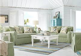 Cindy Crawford Beachside Denim Sofa by Cindy Crawford Home Beachside Green 7 Pc Living Room Living Room