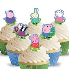 peppa pig cake decorations 12 pre cut peppa pig cake toppers mums