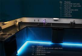 led light strips kitchen bar cabinet rope lights