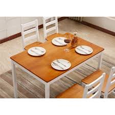 LIFE CARVER Solid Pine Wood 118cm Large Dining Table Set 4 Chairs Kitchen  Contemporary Home Funiture 118 * 76 * 73cm Details About Ding Table And 4 Chairs Set Solid Pine Wooden Kitchen Home Fniture White Life Carver Wood 118cm Large Contemporary Funiture 118 76 73cm Canterbury With Bench Solid Pine Ding Table Chairs Yosemite 5 Piece Round Side Ivory Charm X90cm Salto With And Room Sets 1 Corona Costway 5pcs Brown Rakutencom Yakoe