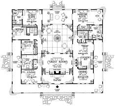 the inner courtyard i this floor plan