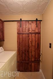 How To Build A Sliding Barn Door | Home Interior Design Double Sliding Barn Doors Master Bath Entrance With Our Antique Door Hdware How Haing Remodelaholic 35 Diy Rolling Ideas To Build Youtube Bathrooms Design Amazing Bathroom For To Hang The White Stained Wood On Black Rod Next Track Lowes Everbilt How And Hdware For Haing A Sliding Barn Door Fniture External By Elise Blaha Cripe Epbot Make Your Own Cheap Pretty Distressed