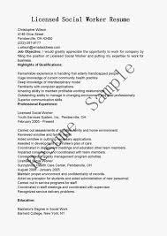 Resume Sample Licensed Social Worker For Work Program Rsum Writing School Of