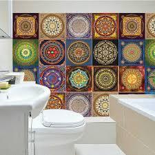 mandala stil mosaik fliesen aufkleber für wohnzimmer küche