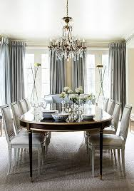 This Gray And Cream Formal Dining Room With Gold Crystal Accents Is Nothing Short Of Sheer Glamour