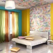chambre avec tete de lit le papier peint en tête de lit 4murs