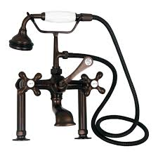 Brushed Bronze Tub Faucet by Clawfoot Tub Filler U2013 Elephant Spout Hand Held Shower 6 U2033 Elbow