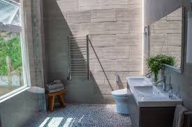 rustic room bathroom modern with curbless shower san francisco