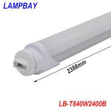 free shipping led bulb 8ft f96 ho base r17d single pin 40w