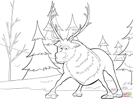 Sven From Frozen Coloring Page