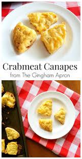 crab canapes crabmeat canapés the gingham apron