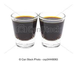 Coffee Espresso In Glass Shot