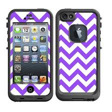 Skins FOR the Lifeproof iPhone 5 Case Chevron Purple by ItsASkin