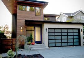Modern House Fronts by Different Types Of Glass That Front Doors Can Feature