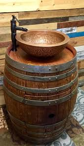 Double Vanity Bathroom Ideas by Best 25 Wine Barrel Sink Ideas On Pinterest Barrel Sink