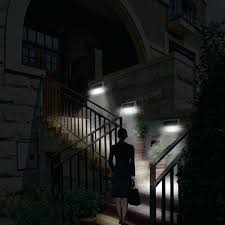 bright solar wall lights outdoor mounted lighting the tier