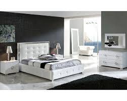 Nice Modern King Bed Frame Modern Bedroom Set Valencia In White
