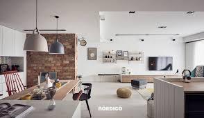 Brick Accent Wall In Nordic Interior Interior Design Ideas Fake