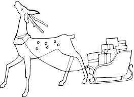 Christmas Reindeer Coloring Page 2