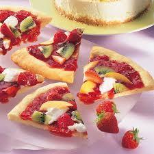 bunte früchte pizza