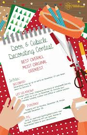 Christmas Cubicle Decorating Contest Flyer by Jefferson Lab Employee Activities