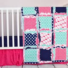 Coral And Mint Crib Bedding by Crib Bedding U0026 Car Seat Canopies U2013 A Vision To Remember