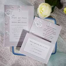 Elegant Grey Rose Floral Inexpensive Online Wedding Invitation Cards EWI066 As Low 094