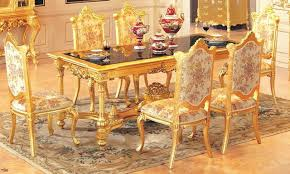 Dining Table Set For 6 Luxury With Chairs Wooden Furniture Gold Color Seater Olx