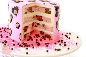Interior Cake Designs Decorations inside your cake  Pink Cake Box