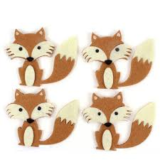Woodland Felt Fox Toppers 4 Pack Hobbycraft Scapbooking
