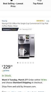 Keurig K155 Professional Series For Sale In Brimfield MA