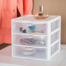 Sterilite 4 Drawer Cabinet 2 Pack by Sterilite Small 3 Drawer Unit Walmart Com
