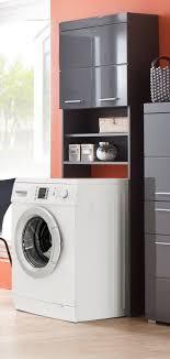 waschmaschinenschrank amanda in grau hochglanz waschmaschinen überbau 63 x 187 cm