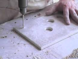 how to drill holes in ceramic tile without breaking them youtube
