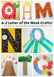 A to Z Cute Letter of the Week Crafts for Preschoolers