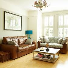 white living room with leather sofas living room decorating