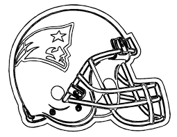 American Football Coloring Pages Helmet Patriots New
