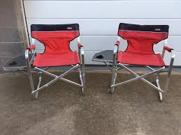 2 X Red Coleman Deck/Camping Chair With Table - Used Condition ... Amazoncom Coleman Outpost Breeze Portable Folding Deck Chair With Camping High Back Seat Garden Festivals Beach Lweight Green Khakigreen Amazon Is Ready For Season With This Oneday Sale Coleman Chair Flat Fold Steel Deck Chairs Chair Table Light Discount Top 23 Inspirational Steel Fernando Rees Outdoor Simple Kgpin Campfire Mini Plastic Wooden Fabric Metal Shop 000293 Coleman Deck Wtable Free Find More Side Table For Sale At Up To 90 Off Lovely