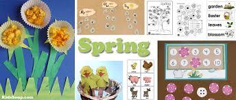 Spring Activities And Crafts For Preschool Kindergarten