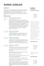 Sample Resume For Qa Engineer