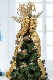 Graceful Golden Ribbon Tree Topper