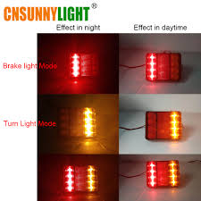 CNSUNNYLIGHT Car Truck LED Rear Tail Light Warning Lights Rear Lamps ... 2x Led Rear Tail Lights Truck Trailer Camper Caravan Bus Lorry Van 0708 Dodge Ram Pickup Euro Red Clear 111 Round And W Builtin Reflector 4 Inch Led Whosale 2018 8 Car Light Warning Rear Lamps Waterproof Amazonca Trucklite 44022r Super 44 Stopturntail Kit 42 2 Pcs With License Plate Lamp Durable Lights Ucktrailer Circular Stoptail Lamp 1030v 1 Pair 12v Turn Signal 20fordf150taillight The Fast Lane