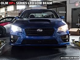 olm hp led low beam bulbs 2015 wrx base and premium