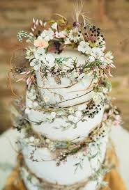 Rustic Wedding Cake With Vines