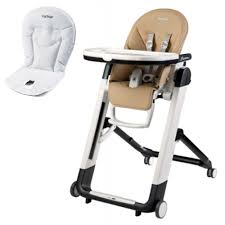 Peg Perego Siesta High Chair With Booster Cushion (Licorice)